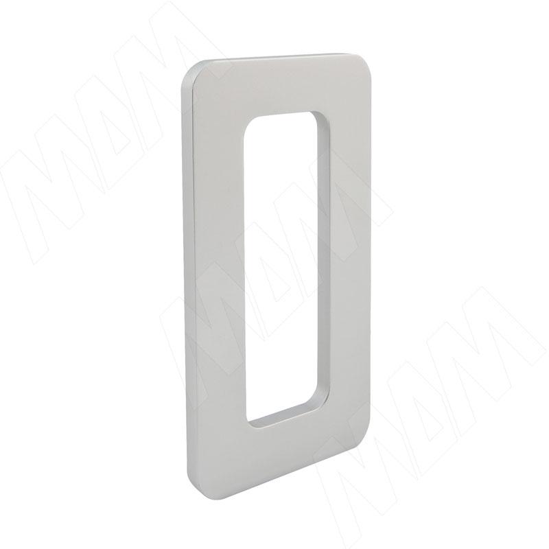 Flat Ручка-раковина 90мм для стеклянных и деревянных раздвижных дверей, серебро (DHK-103-90CR)