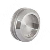 Round ручка-раковина для стеклянных дверей 8-10 мм, нержавеющая сталь, D58