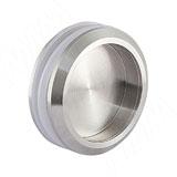 Round ручка-раковина для стеклянных дверей 10-12 мм, нержавеющая сталь, D68