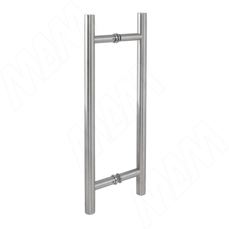 Laguna ручка-рейлинг для стеклянных дверей 8-12 мм, нержавеющая сталь, L400, D19, C298 (DHR400L298SS)