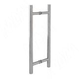 Laguna ручка-рейлинг для стеклянных дверей 8-12 мм, нержавеющая сталь, L400, D19, C298