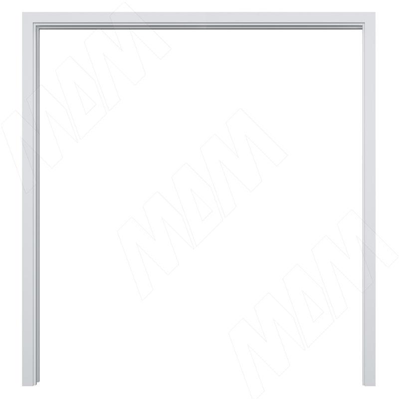 GUSTAVSON Рамка и наличники для двух дверей шириной 800 мм, толщина 100 мм, МДФ, белый (GU100DW80)