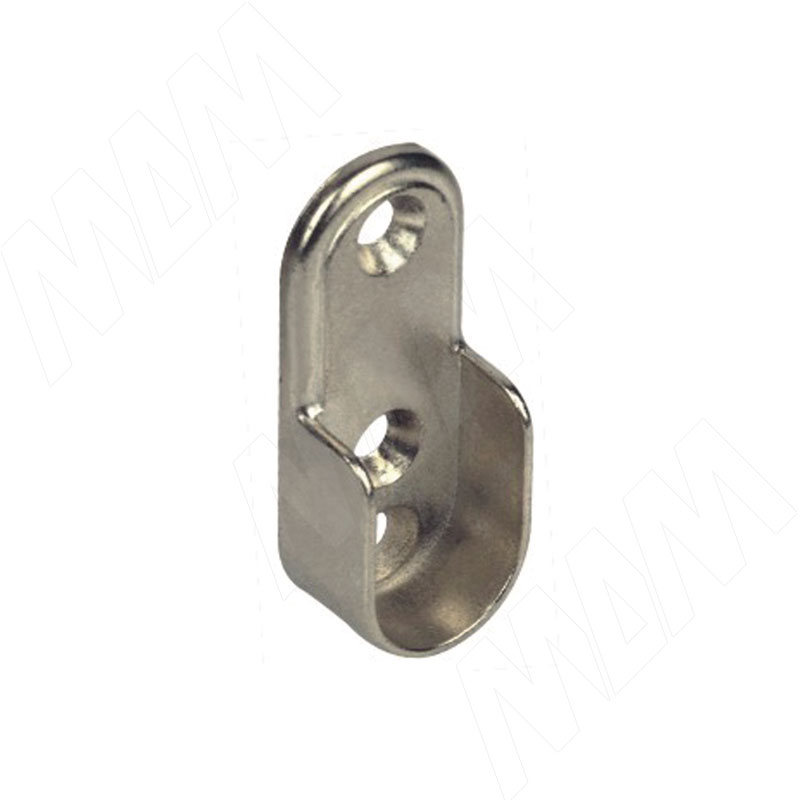 Штангодержатель для овальной штанги, никель (HA02 NI) vogue штангодержатель для прямоугольной штанги центральный серый металлик крепление к полке ta0213cmg