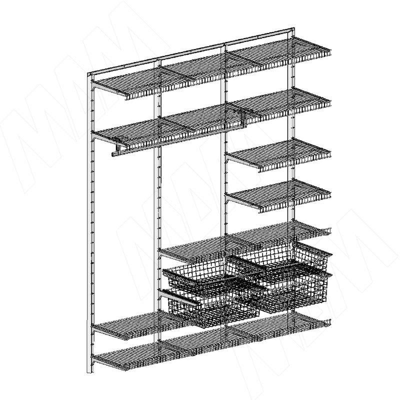 цена на Home Space, гардероб ширина 1860мм, глубина 495 мм, 3 проема по 600 мм (HSK1860x495MT4)