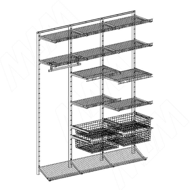 цена на Home Space, гардероб ширина 1860мм, глубина 495 мм, 3 проема по 600 мм (HSK1860x495MT7)