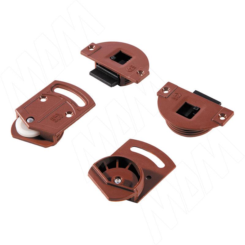 IKM15 Комплект роликов для 1 двери, 15 кг (2 верхних, 2 нижних) (IKM15N) комплект для распашной двери 2 петли 2 втулки 2 винта firmax