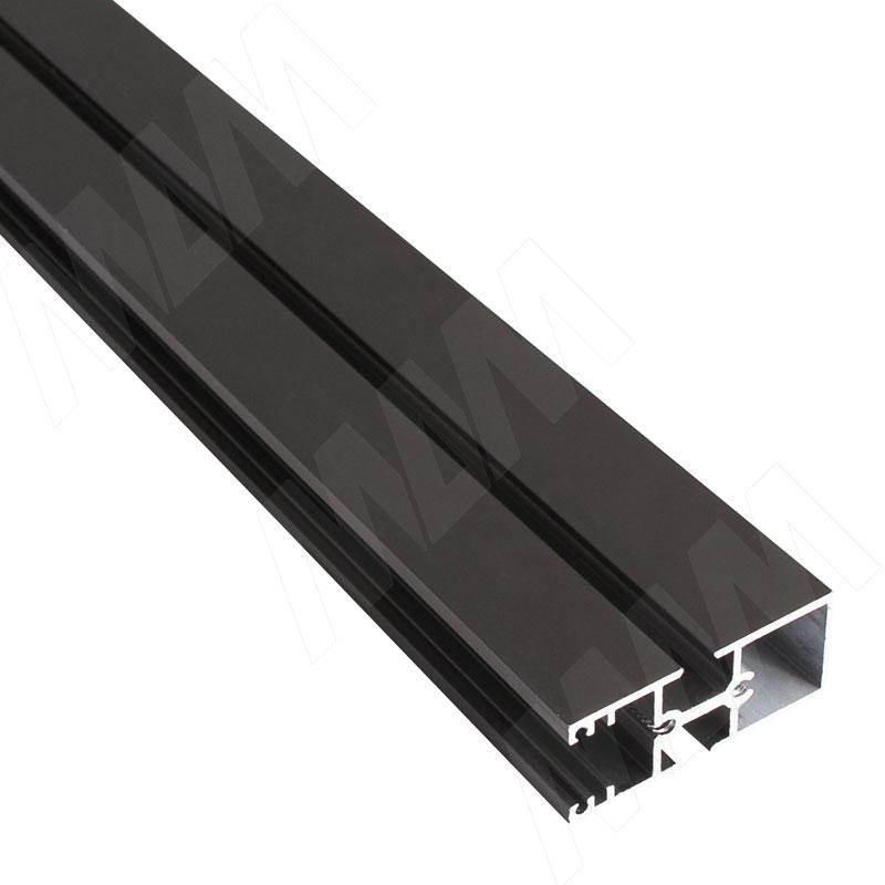 Фото - KALI несущий профиль B, широкий, бронза, L-3000 мм (KL23BR) kali 1 секция 2 прямые стойки узкий профиль для 2 х деревянных полок для 2 х овальных штанг бронза kl43set3br