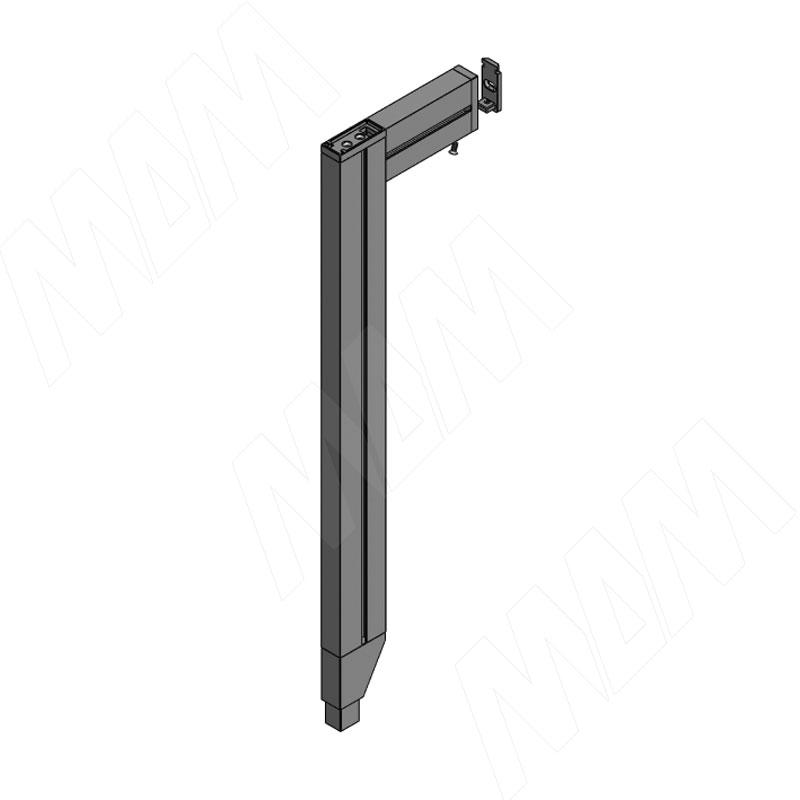 KALI, Стойка L-образная с декоративной регулируемой опорой, серебро (KL23SET2010GR) стойка yamaha l 2c