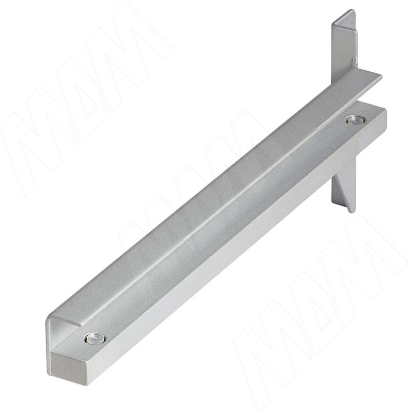 KALI полкодержатель для стеклянных полок толщиной 8/10 мм, комп. на 1 полку, серебро (KL240GR)