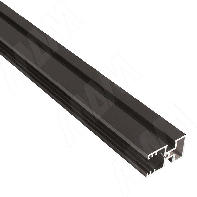 Фото - KALI несущий профиль D, узкий, бронза, L-3000 мм (KL43BR) kali 1 секция 2 прямые стойки узкий профиль для 2 х деревянных полок для 2 х овальных штанг бронза kl43set3br