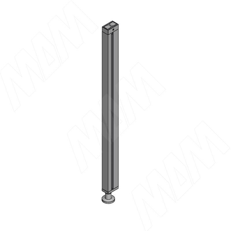KALI, Стойка прямая, узкий профиль с регулируемой опорой, серебро (KL43SET13GR) kali стойка прямая с декоративной регулируемой опорой серебро kl23set9010gr