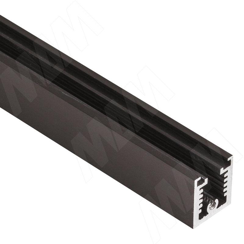 Фото - KALI несущий профиль T, горизонтальный, бронза, L-3000 мм (KL53BR) kali 1 секция 2 прямые стойки узкий профиль для 2 х деревянных полок для 2 х овальных штанг бронза kl43set3br