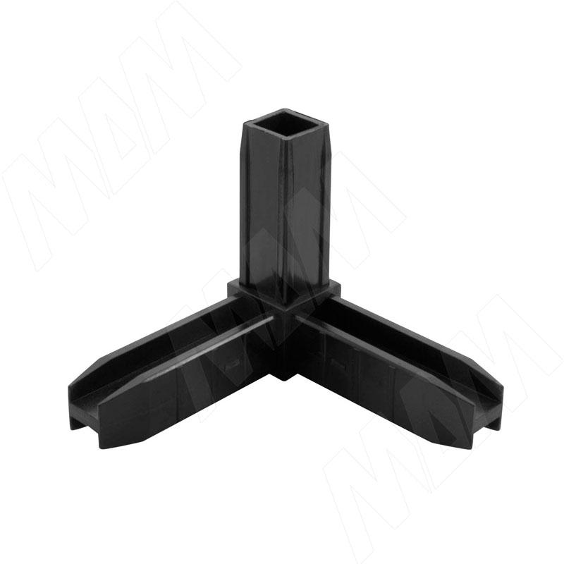 Соединитель 3-сторонний, черный (LFCON3BL)