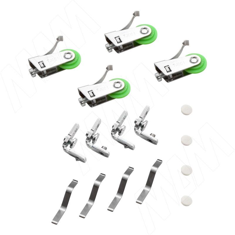 MiniShop комплект роликов для одной двери с вертикальным профилем (MS31201A)