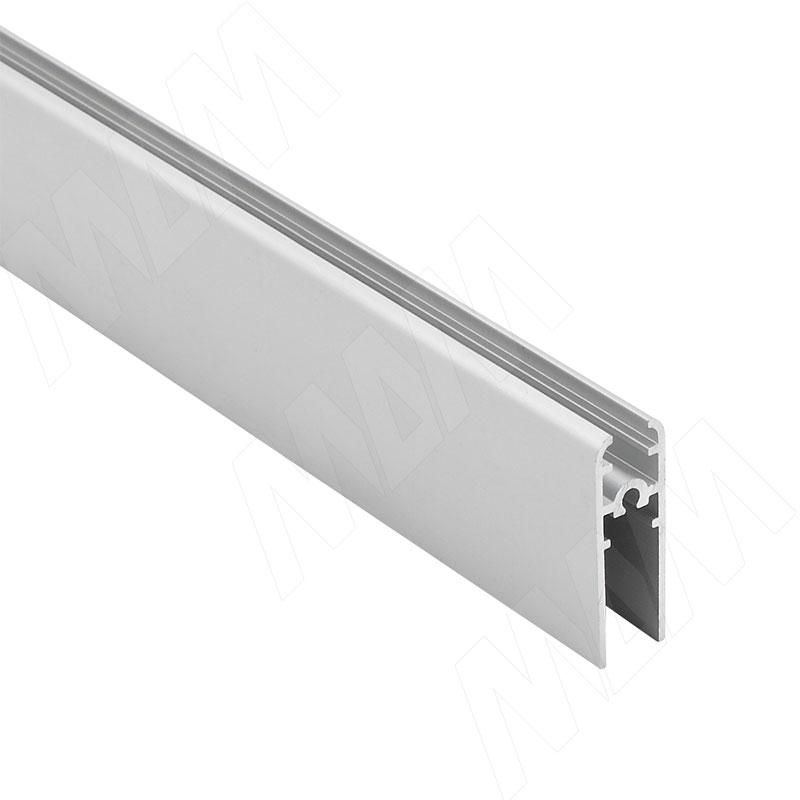 Фото - MiniShop горизонтальный профиль, серебро, L-3000 (MSA017) профиль декоративный ol90 3000 мм серебро