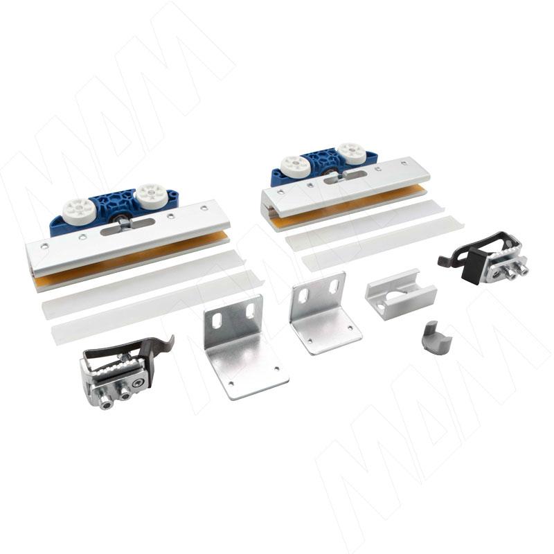 PORTAGLASS LUX Комплект роликов на одну стеклянную дверь, 8 - 12 мм, до 75 кг (PORTALUX75)