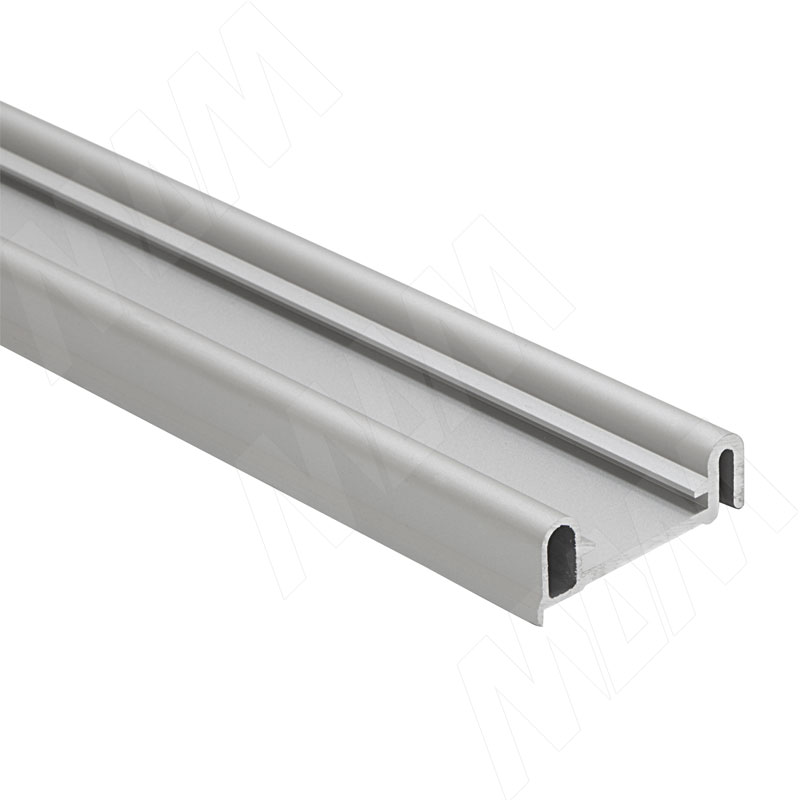 PS10 Направляющая верхняя, ДСП от 22, фикс. снаружи, серебро, L-6100 (PR0672001A)