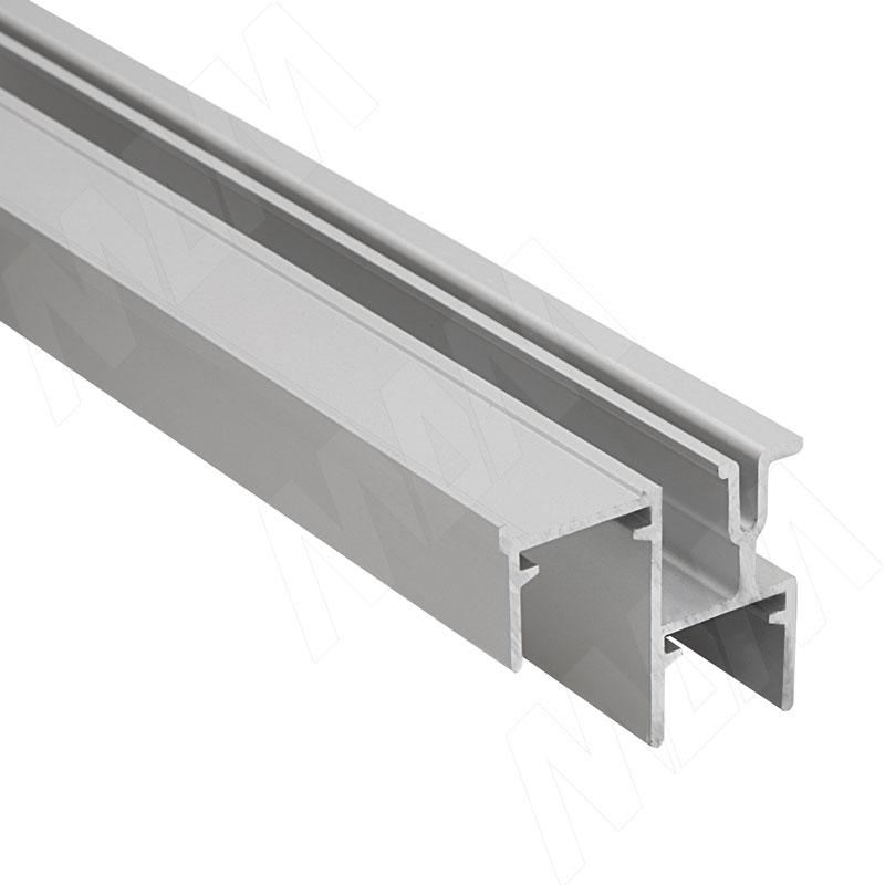 Фото - PS48/PS10 Направляющая нижняя, фикс. снаружи/изнутри, серебро, L-3000 (PR1032025PR-S) ps48 направляющая верхняя усиленная быстрый монтаж серебро l 3050 pr483002004a s