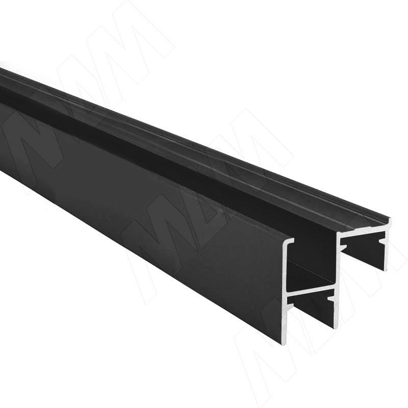 PS48/PS10 Направляющая нижняя, фикс. снаружи, черный, L-6100 (PR1079001A)