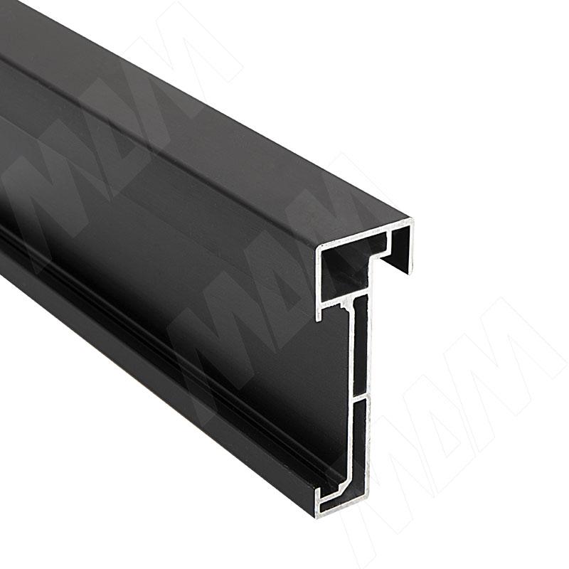 PS19 Горизонт. профиль верх/низ, черный, L-3000 (PR193903020PR-S)