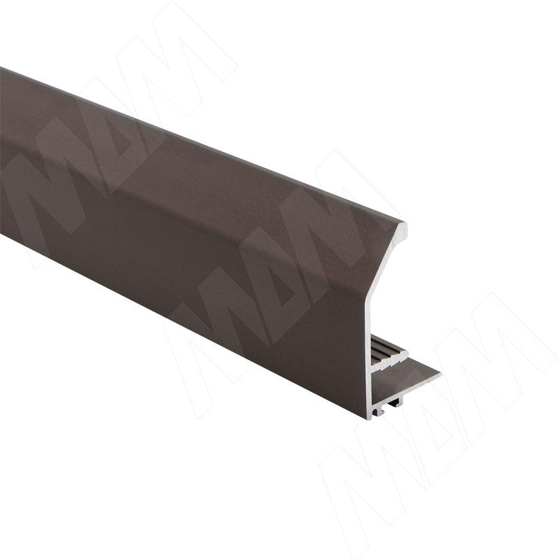 Профиль-ручка для фасада 18 мм, бронза, L-3000 (PR4004PR-S3)
