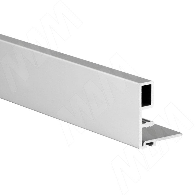 Фото - Профиль-ручка узк., для фасада 18 мм, серебро, L-3000 (PR480150PR-S3) профиль декоративный ol90 3000 мм серебро