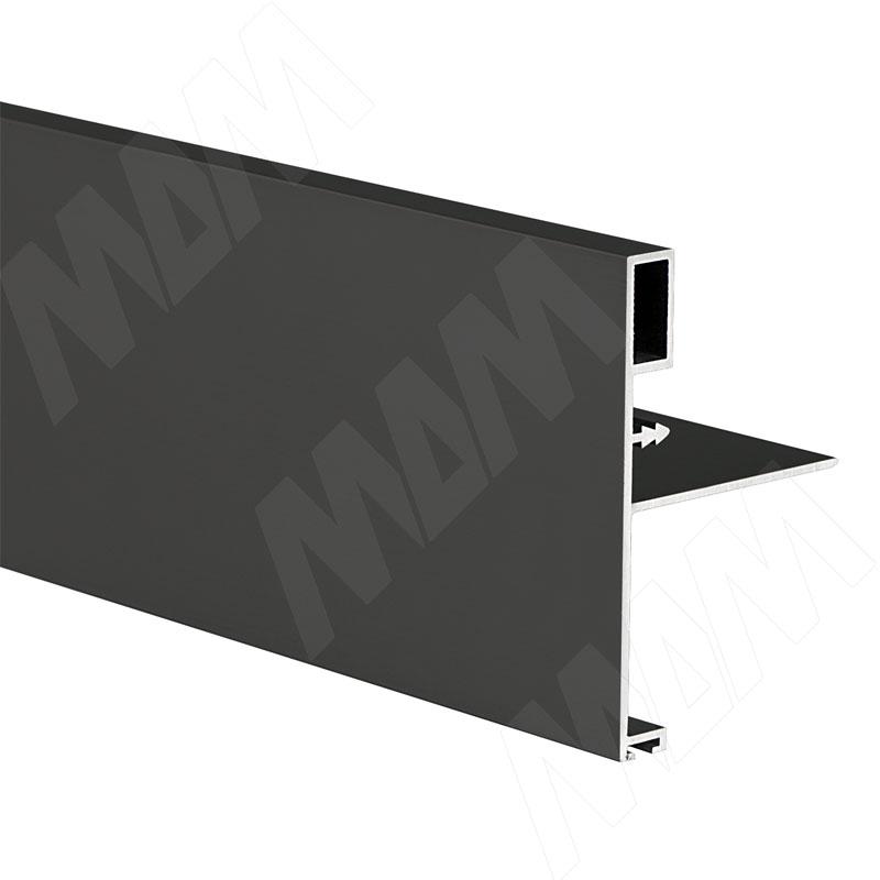 Профиль-ручка широк., для фасада 18 мм, черный, L-3000 (PR480949PR-S3)