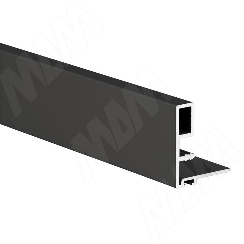 Профиль-ручка узк., для фасада 18 мм, черный, L-3000 (PR480950PR-S3)