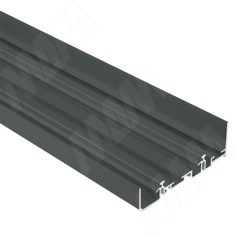 Фото - PS48 Направляющая верхняя усиленная, быстрый монтаж, черный, L-3000 (PR483902004PR-S) ps48 направляющая верхняя усиленная быстрый монтаж серебро l 3050 pr483002004a s