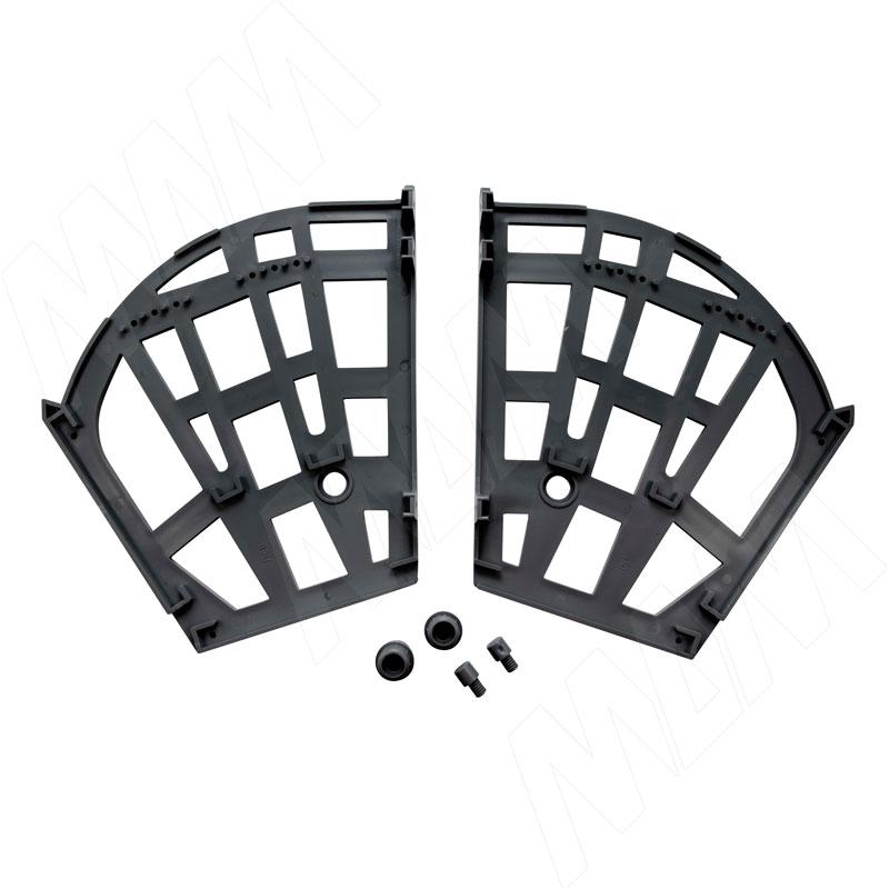 Механизм для обувниц тройной, черный (PU7030BL)