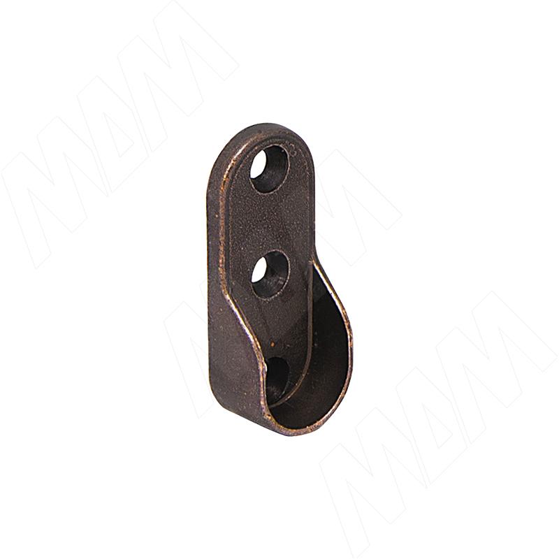 Штангодержатель для овальной штанги, бронза (RT03ZBR) vogue штангодержатель для прямоугольной штанги центральный серый металлик крепление к полке ta0213cmg