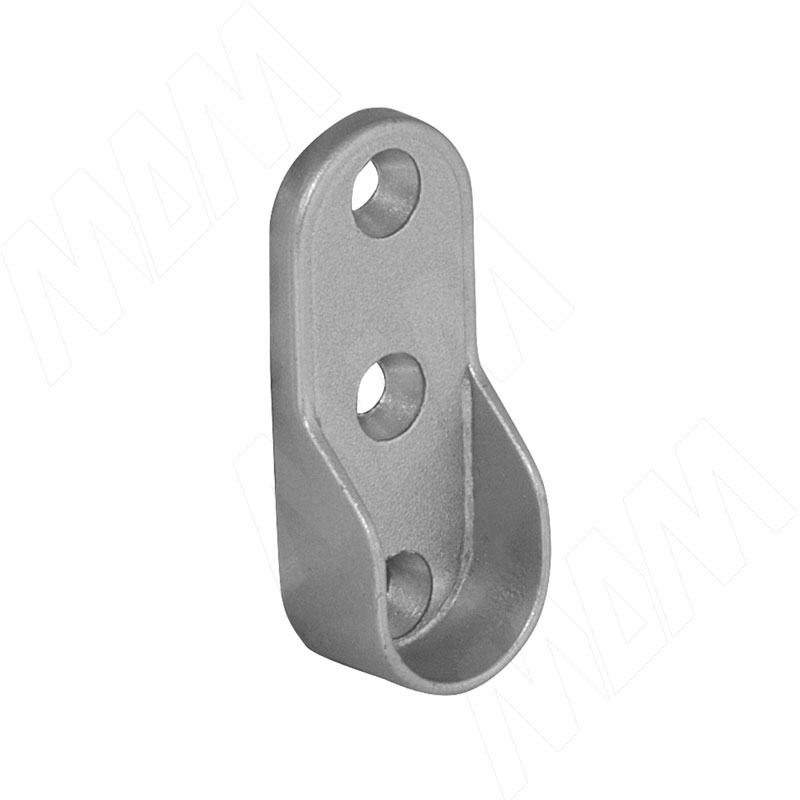 Штангодержатель для овальной штанги, серебро (RT03ZGR) vogue штангодержатель для прямоугольной штанги центральный серый металлик крепление к полке ta0213cmg