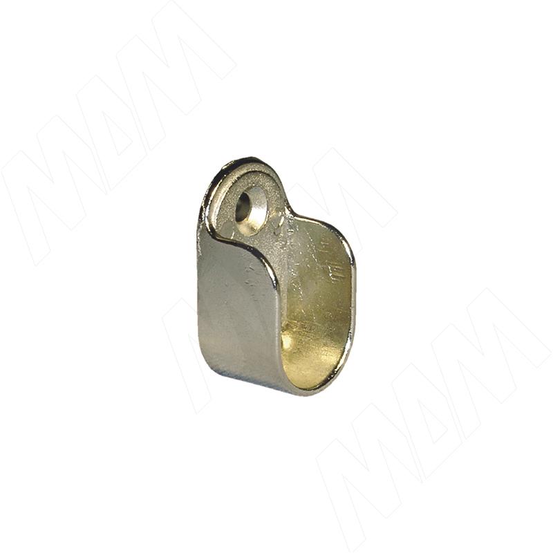 Штангодержатель для овальной штанги, никель (RT16 ZNL) vogue штангодержатель для прямоугольной штанги центральный серый металлик крепление к полке ta0213cmg