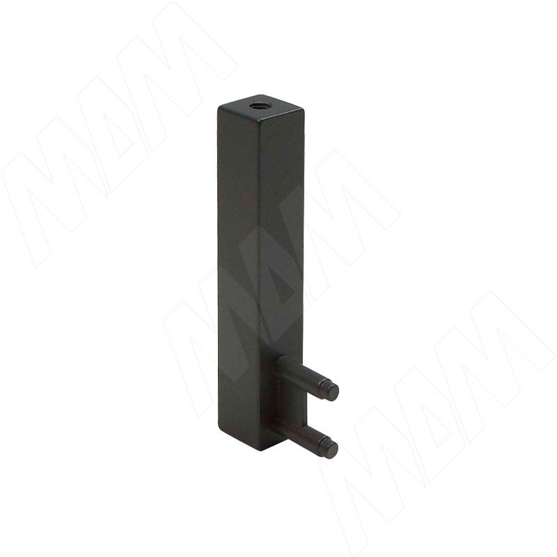 VOGUE Штангодержатель для прямоугольной штанги, торцевой, графит, крепление к полке (TA0213SGP)