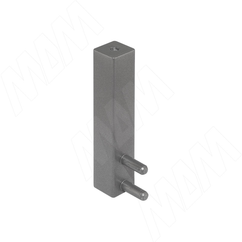 VOGUE Штангодержатель для прямоугольной штанги, торцевой, серый металлик, крепление к полке (TA0213SMG)