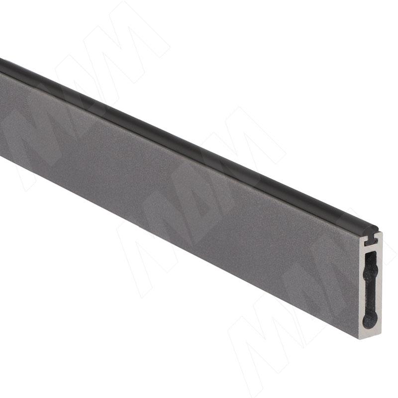 цена VOGUE Штанга прямоугольная 30х8, с демпфером, серый металлик, L-900 (TA0213TMG) онлайн в 2017 году