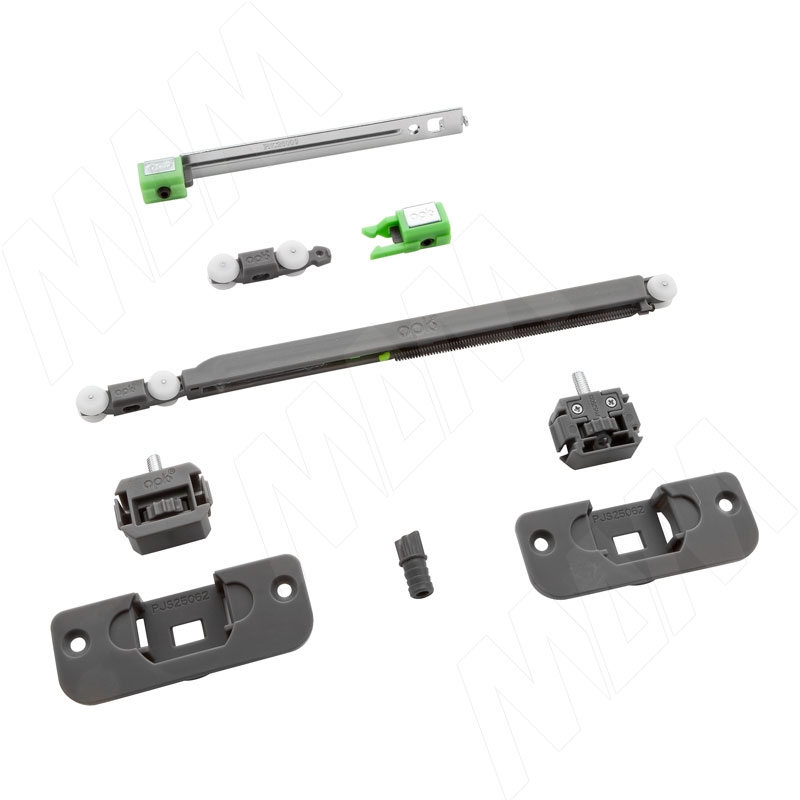 Yutu комплект роликов для одной деревянной двери до 15 кг, один доводчик (YU12220A)