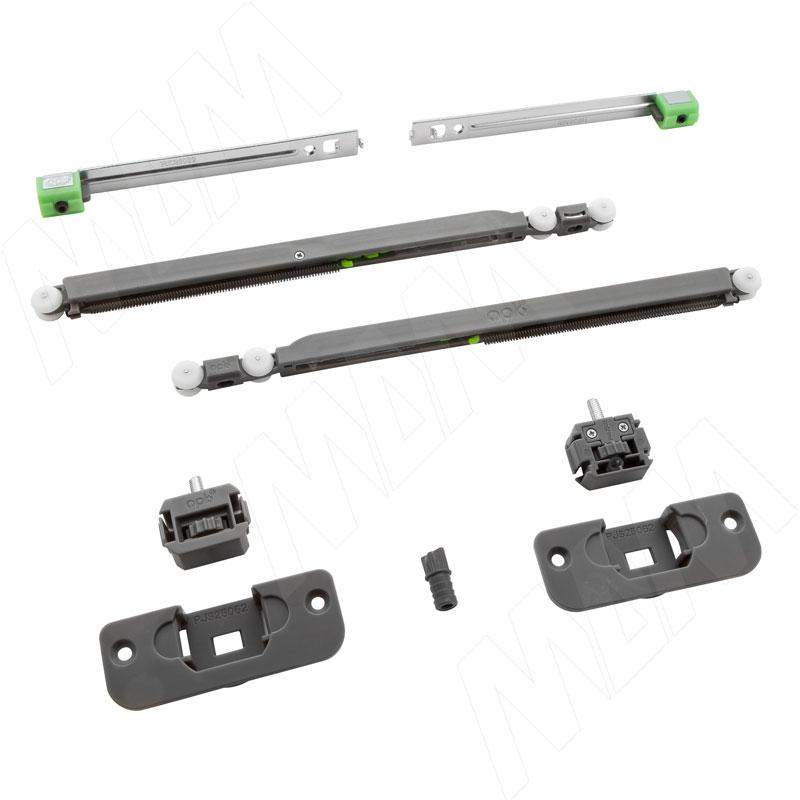 Yutu комплект роликов для одной деревянной двери до 15 кг, два доводчика (YU12220B)