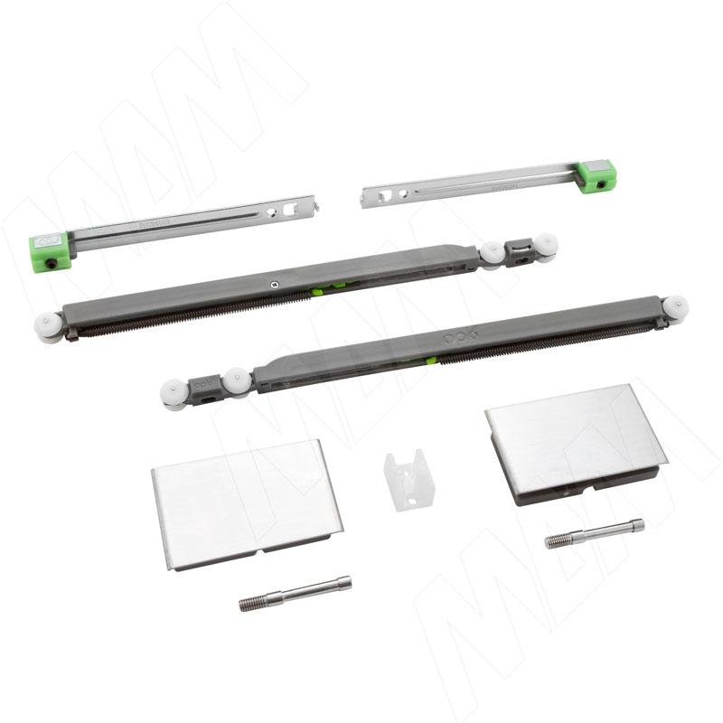 Yutu комплект роликов для одной стеклянной двери до 15 кг, два доводчика (YU12221B)
