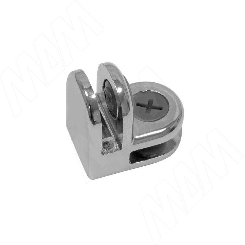 Соединитель для 2-х стекол 5 мм, хром, 1 шт (CROSS Z12 CR) застежка для бус zlatka карабин цвет никель 10 х 5 мм 5 шт