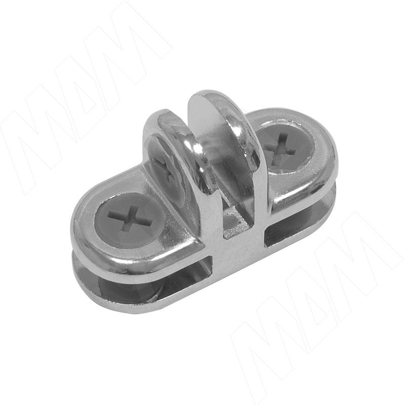 Соединитель для 3-х стекол 5 мм, хром, 1 шт (CROSS Z13 CR) застежка для бус zlatka карабин цвет никель 10 х 5 мм 5 шт
