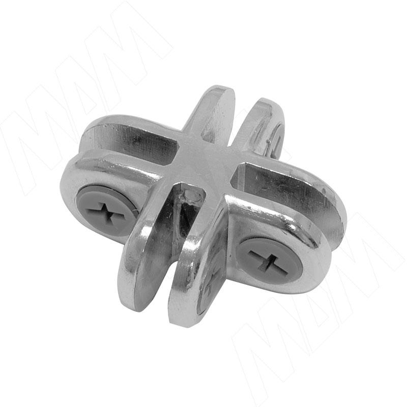 Соединитель для 4-х стекол 5 мм, хром, 1 шт (CROSS Z14 CR) застежка для бус zlatka карабин цвет никель 10 х 5 мм 5 шт