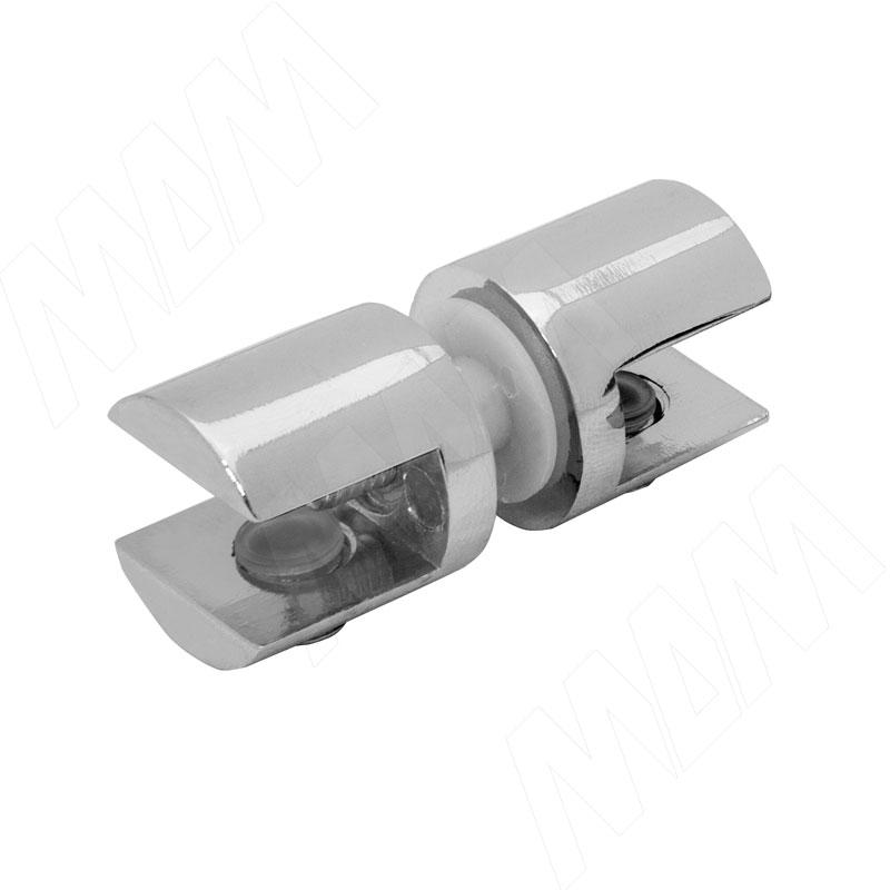 Полкодержатель для стекла 8-10 мм двухсторонний, хром (J66 CR)
