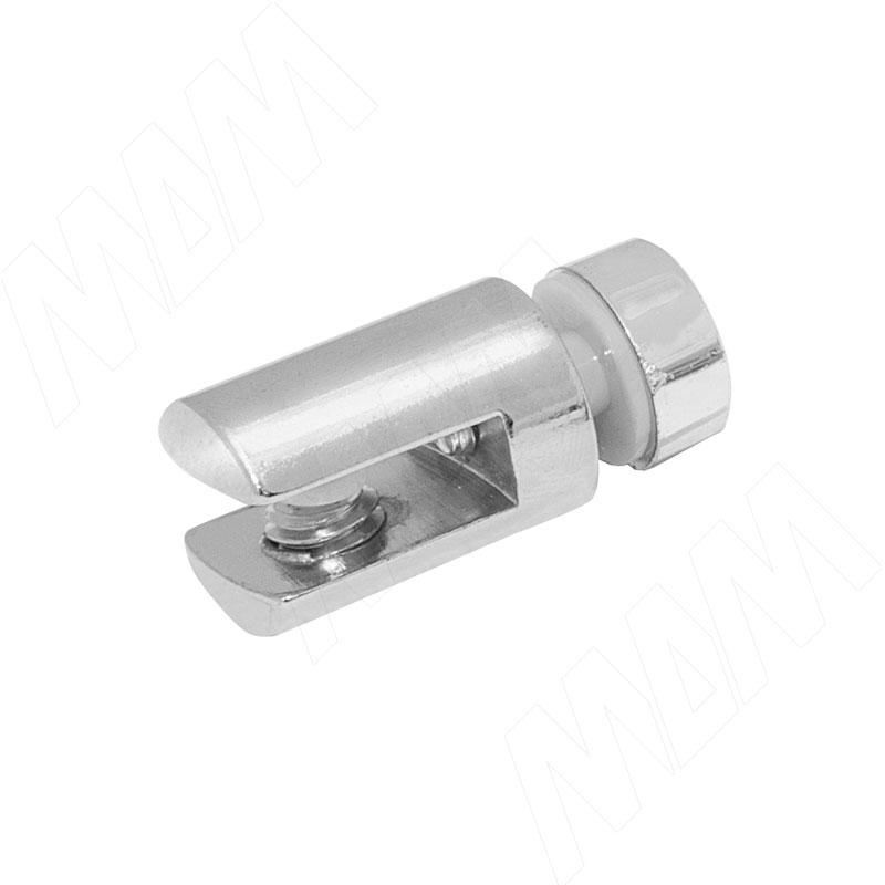 Полкодержатель для стекла 5-6 мм односторонний, хром (Р006-02/CH)