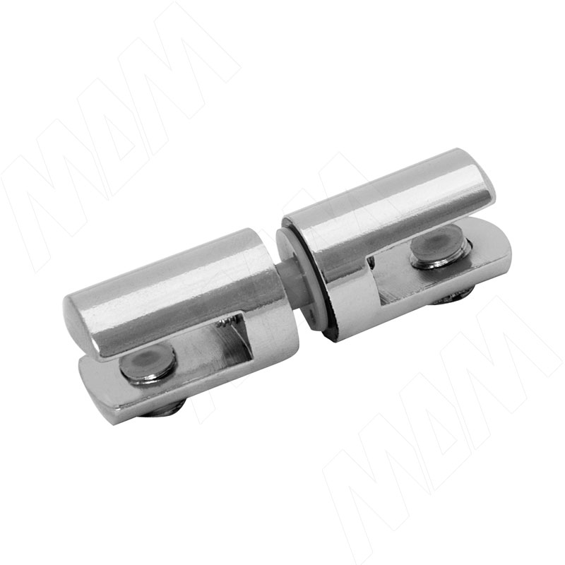 Полкодержатель для стекла 5-6 мм двухсторонний, хром (Р007-02/CH)