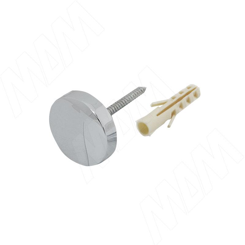 Крепление зеркала 4-5 мм. к стене, D24, хром (Р330-01/СН)
