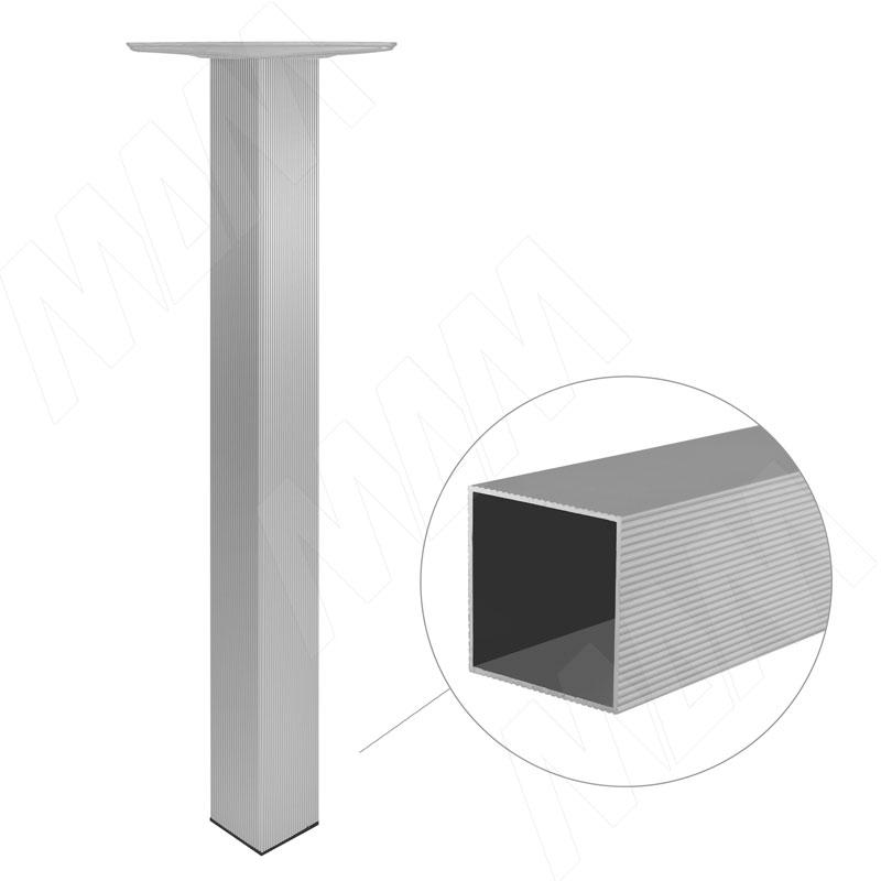 Опора для стола квадратная, 60х60 мм, H710+15 мм, хром матовый, 4шт. (701.A0.02)