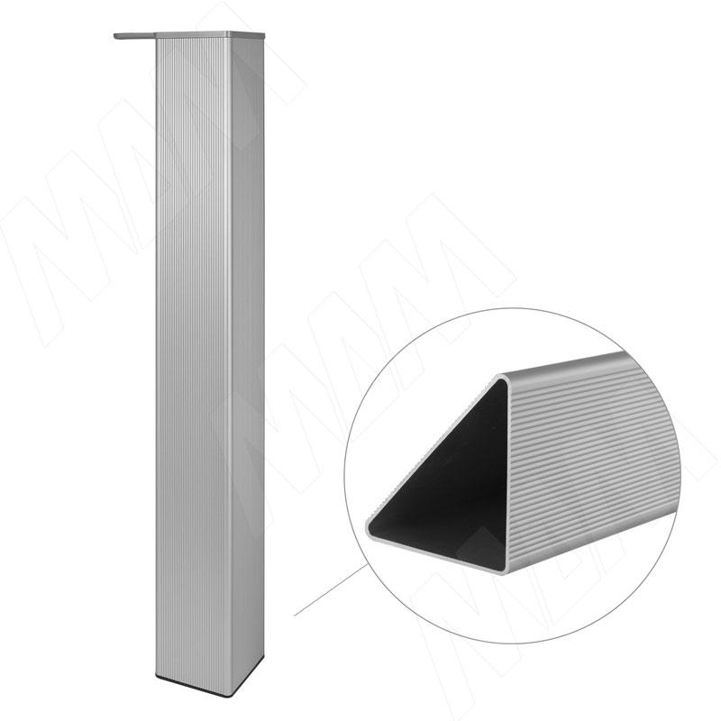 Опора для стола треугольная, H710+15 мм, хром матовый, 4шт. (705.A0.04)