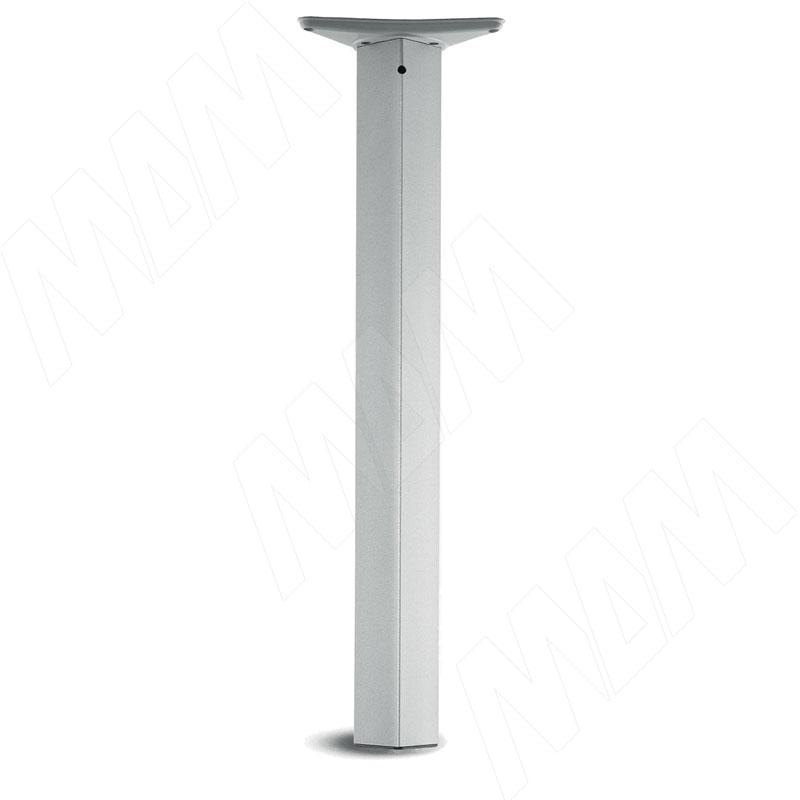 Опора для стола квадратная, 60х60 мм, H710+25 мм, хром матовый, 4шт. (ART.979 /4)