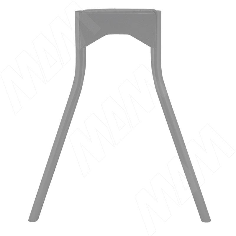 Опора для стола П-образная, D32, H695+10мм, хром матовый, 1шт. (D35/715 АЛЮМ MAT)